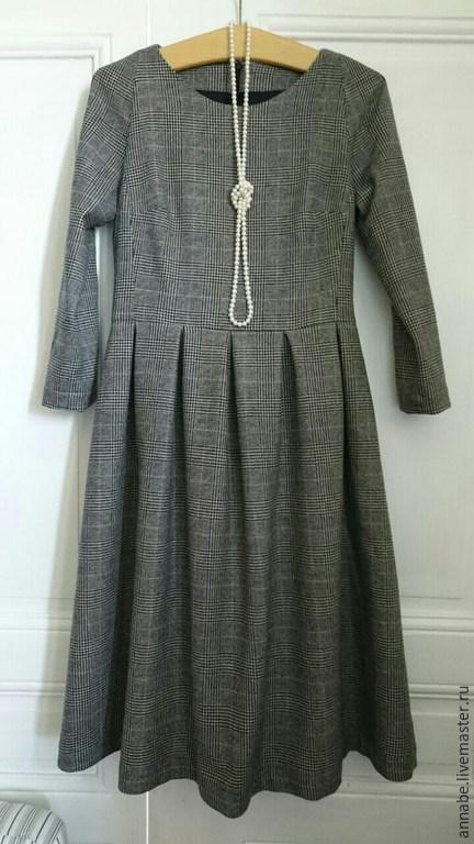 Платья ручной работы. Ярмарка Мастеров - ручная работа. Купить Платье для офиса Кашемир 30% Шерсть 70%. Handmade.