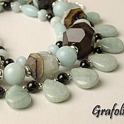 Украшения handmade. Livemaster - original item Necklace in amazonite agate. Handmade.