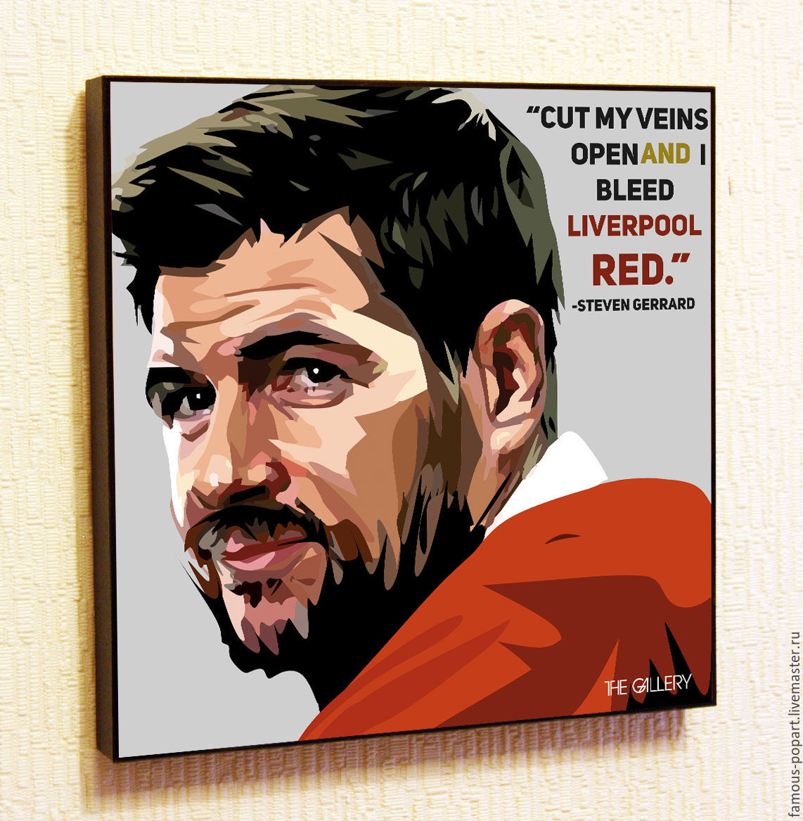 Painting Pop Art Steven Gerrard, Pictures, Moscow,  Фото №1