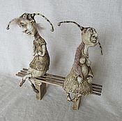 Куклы и игрушки ручной работы. Ярмарка Мастеров - ручная работа Поссорились. Handmade.