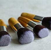 Косметика ручной работы. Ярмарка Мастеров - ручная работа Кисть Flat Top для минеральной косметики. Handmade.