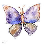 """Картины ручной работы. Ярмарка Мастеров - ручная работа Комплект иллюстраций """"Бабочки"""", 3 штуки. Handmade."""