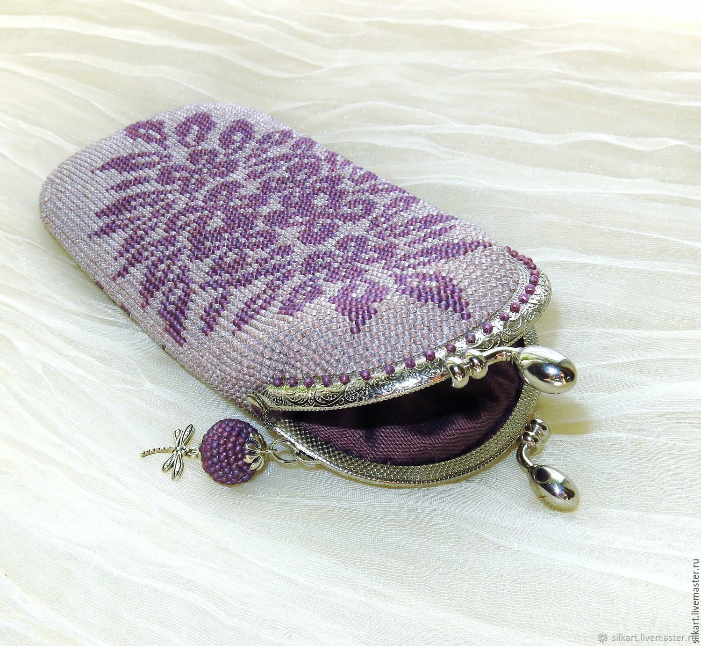cases: Glasses case Elegance beaded with clasp, Eyeglass case, Zheleznodorozhny,  Фото №1