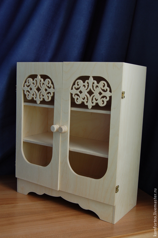 Puppet locker.Blank for decoupage and painting. 980.