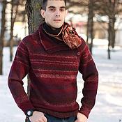 """Мужская одежда handmade. Livemaster - original item Мужской свитер """"Бургундия"""". Handmade."""
