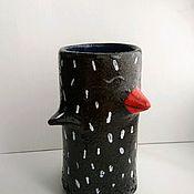 Вазы ручной работы. Ярмарка Мастеров - ручная работа Ваза-птица керамическая. Handmade.
