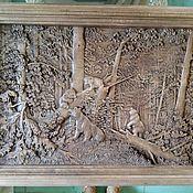 Картины и панно ручной работы. Ярмарка Мастеров - ручная работа Мишки в лесу. Handmade.