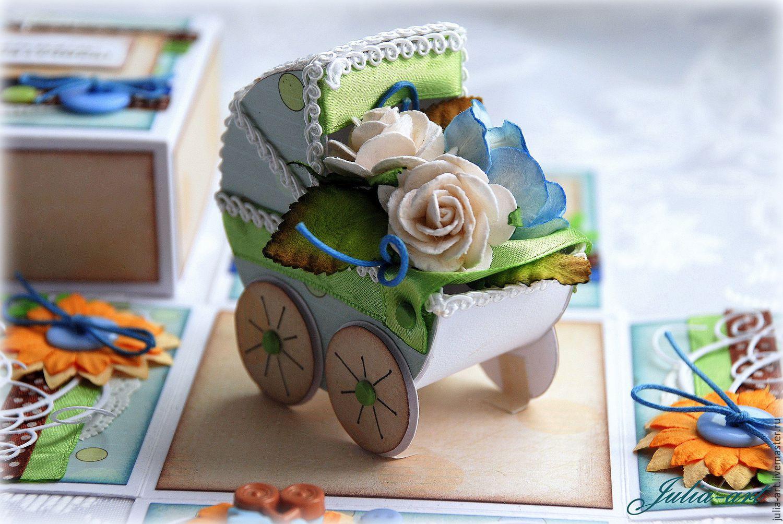 Купить Открытка- коробка с днем рождения Сиренево-желтая 32