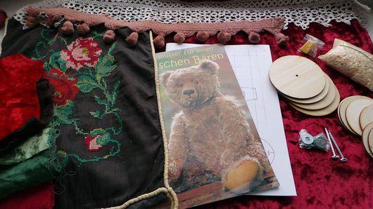 Куклы и игрушки ручной работы. Ярмарка Мастеров - ручная работа. Купить Набор-2 для шитья мишки Тедди (40 см), винтажный плюш. Handmade.