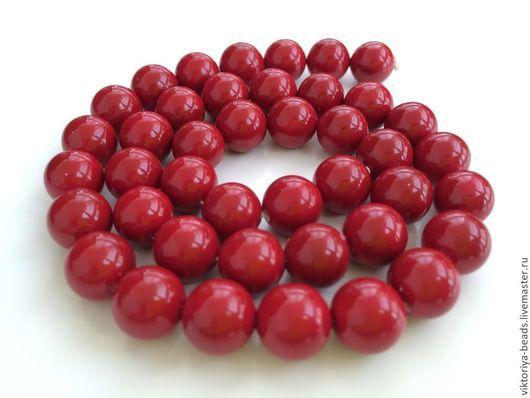 Для украшений ручной работы. Ярмарка Мастеров - ручная работа. Купить Жемчуг майорка красный бусины (не перламутровый). Handmade.