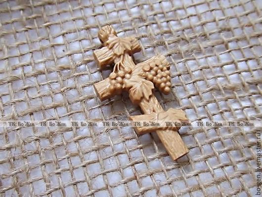 Кулоны, подвески ручной работы. Ярмарка Мастеров - ручная работа. Купить Нательный крестик. Handmade. Бежевый, резной крест, христианство