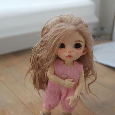 Куклы и игрушки ручной работы. Ярмарка Мастеров - ручная работа Парик для пукифи (14см). Handmade.