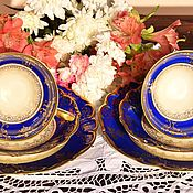 Винтаж handmade. Livemaster - original item Edelstein (1929 - 1972).Luxury tea trios.Germany.. Handmade.