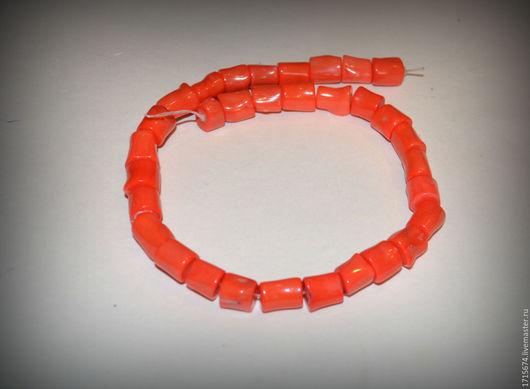 Для украшений ручной работы. Ярмарка Мастеров - ручная работа. Купить Коралл оранжевые трубочки. Handmade. Рыжий, коралл