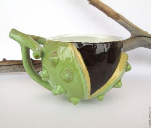 """Кружки и чашки ручной работы. Ярмарка Мастеров - ручная работа. Купить """"Каштан"""", керамическая чашка. Handmade. Авторская керамика"""