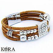 Украшения handmade. Livemaster - original item Bracelet of cork
