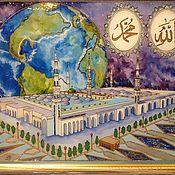 Картины и панно ручной работы. Ярмарка Мастеров - ручная работа Шамаиль мечеть Пророка. Handmade.