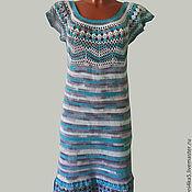 Одежда ручной работы. Ярмарка Мастеров - ручная работа Платье Морская прогулка. Handmade.