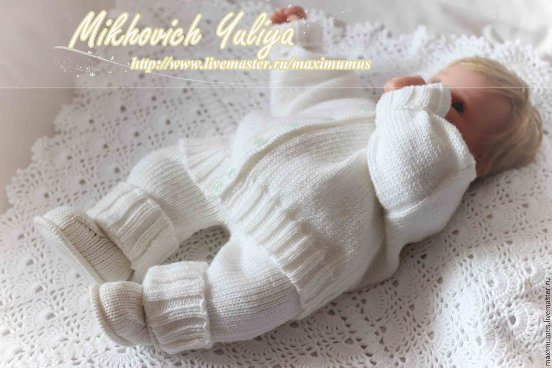 Костюм для новорожденного (вязаная кофточка,штанишки ...