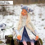 Куклы и игрушки ручной работы. Ярмарка Мастеров - ручная работа Winter Elves. February. Fabi./ Зимние Эльфы. Февраль. Фаби.. Handmade.