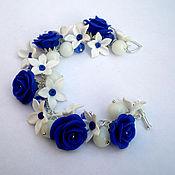 """Украшения ручной работы. Ярмарка Мастеров - ручная работа браслет """"Синяя роза"""". Handmade."""