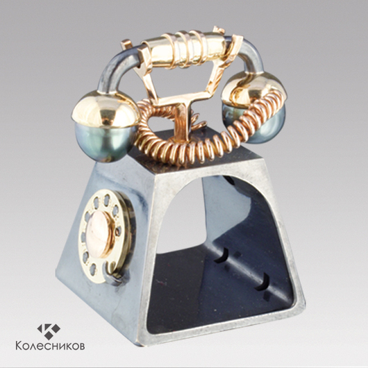 """Приколы ручной работы. Ярмарка Мастеров - ручная работа. Купить Кольцо """"Телефон"""". Handmade. Бежевый, стильное, неординарное, шок стопер"""