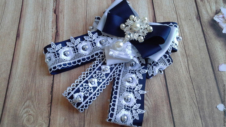 Dark blue bow brooch, Ties, Belgorod,  Фото №1