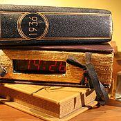 """Для дома и интерьера ручной работы. Ярмарка Мастеров - ручная работа Часы""""Старая книга"""". Handmade."""