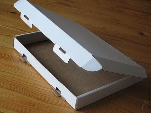 Упаковка ручной работы. Ярмарка Мастеров - ручная работа. Купить ПЛОСКАЯ самосборная коробка с ушками из микрогофрокартона. Handmade. Простая упаковка