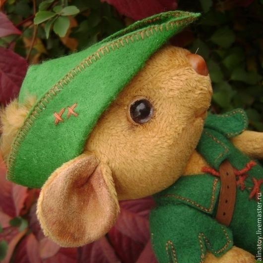 Мишки Тедди ручной работы. Ярмарка Мастеров - ручная работа. Купить Робин Гуд, Мышонок тедди. Handmade. Зеленый