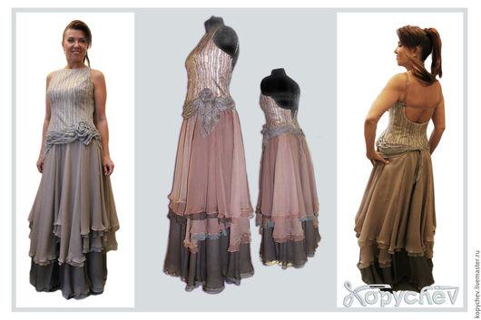 Платья ручной работы. Ярмарка Мастеров - ручная работа. Купить Платье бальное.. Handmade. Бледно-розовый, бальное платье, гипюр