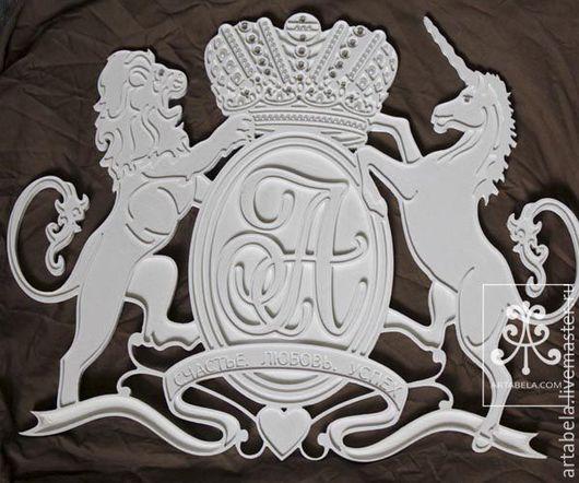 Интерьерные слова ручной работы. Ярмарка Мастеров - ручная работа. Купить семейный герб. Handmade. Белый, подарок, годовщина, дети