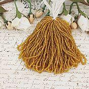 Бисер ручной работы. Ярмарка Мастеров - ручная работа Винтажный бисер фасетной огранки, цвет желтый топаз. Handmade.