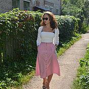 Одежда handmade. Livemaster - original item MIDI skirt in stripe. Handmade.