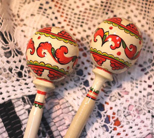 пермогорская роспись красная сочная радостная, для детской игры и на долгую память. Подарок на день рождения, крестины, пасху, новый год. Красный белый черный.