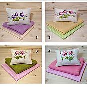 Куклы и игрушки handmade. Livemaster - original item Bed linen for Violets dolls
