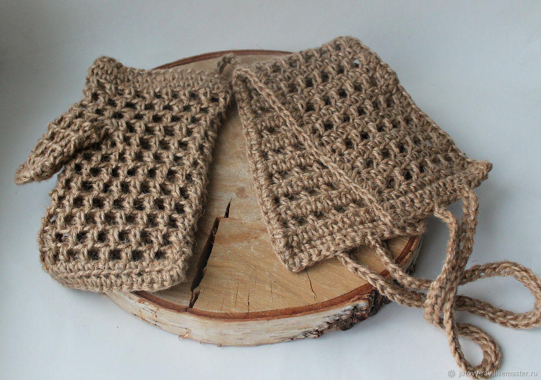 Набор из двух предметов: мочалка ленточная + рукавица, Мочалки, Вологда,  Фото №1