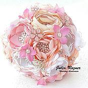 Свадебный салон ручной работы. Ярмарка Мастеров - ручная работа Свадебный брошь букет невесты. брошь букет розовый. Handmade.