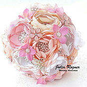 Свадебный салон handmade. Livemaster - original item Wedding brooch bouquet. brooch bouquet pink. Handmade.