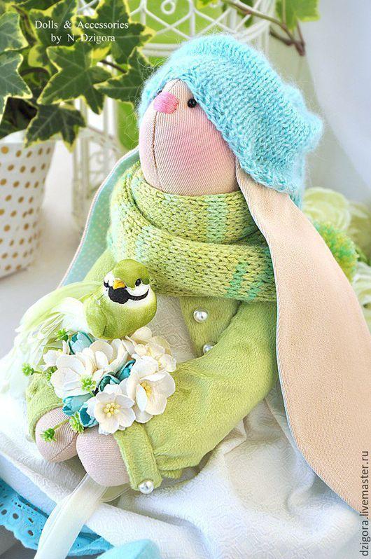 Игрушки животные, ручной работы. Ярмарка Мастеров - ручная работа. Купить Зайка весенняя Элен игрушка текстильная интерьерная. Handmade.
