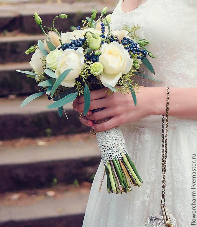 Букет невесты из нежных английских роз