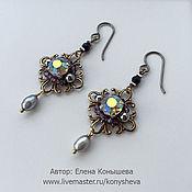 Украшения handmade. Livemaster - original item Fireworks earrings with multicolor crystals.. Handmade.