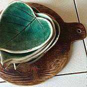 Посуда ручной работы. Ярмарка Мастеров - ручная работа Листики керамические. Handmade.
