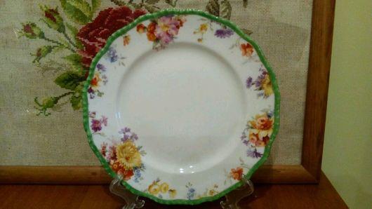 Винтажная посуда. Ярмарка Мастеров - ручная работа. Купить Doulton тарелочка 1900 год. Handmade. Белый, коллекционная, тарелка, doulton burslem