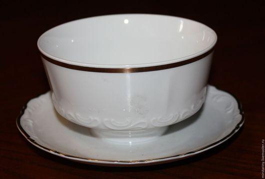 Винтажная посуда. Ярмарка Мастеров - ручная работа. Купить Старинный, фарфоровый соусник, Mitterteich, Германия, 1960+. Handmade. Белый, миттертайх