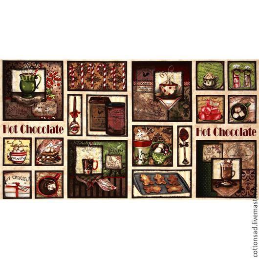 """Шитье ручной работы. Ярмарка Мастеров - ручная работа. Купить СКИДКА. Купон. (+5шт.) """"Горячий шоколад-2"""". Американский хлопок.. Handmade."""