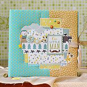 Подарки к праздникам ручной работы. Ярмарка Мастеров - ручная работа Фотоальбом для новорожденного малыша, детский фотоальбом в подарок.. Handmade.