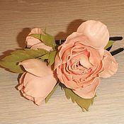 """Украшения ручной работы. Ярмарка Мастеров - ручная работа Заколка для волос """"Винтажные розы"""".. Handmade."""