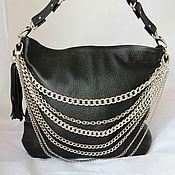 Сумки и аксессуары handmade. Livemaster - original item Handbag black with chains of art. 275. Handmade.