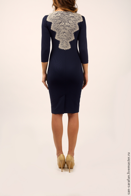 Платья ручной работы. Ярмарка Мастеров - ручная работа. Купить Платье. Handmade. Тёмно-синий, платье, модное платье, джерси